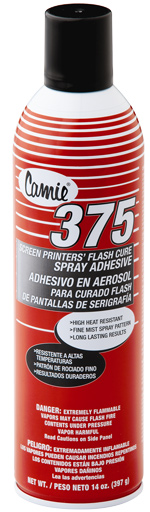 Screen Printers' Flash Cure Spray Adhesive