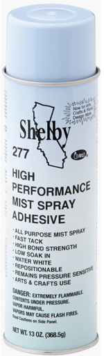 Shelby High Performance Mist Spray Adhesive